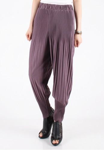 Meitavi's Balloon Plisket Pants - Purple