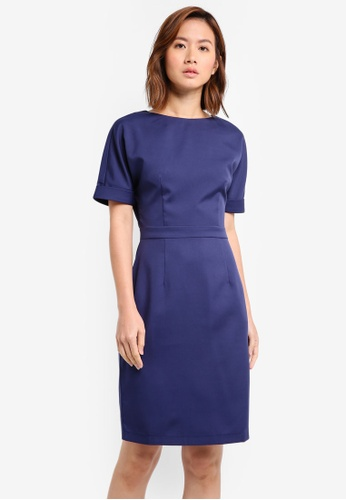 ZALORA navy Pencil Sheath Dress 0871EAABFE8C93GS_1