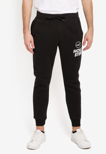 Hollister black Super Skinny Sports Logo Sweatpants HO422AA0SJPLMY_1