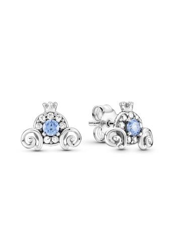 PANDORA silver Pandora Disney Cinderella Pumpkin Coach Stud Earrings A19D2AC6BAED3EGS_1