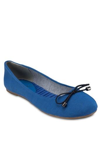 蝴蝶結帆布平底鞋, 女鞋, 芭蕾平esprit outlet 家樂福底鞋