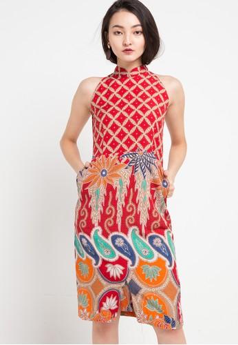 Batik Putra Bengawan red and multi Dress Db P Pamelia Kwg Rd Pb 35897AA42B432CGS_1
