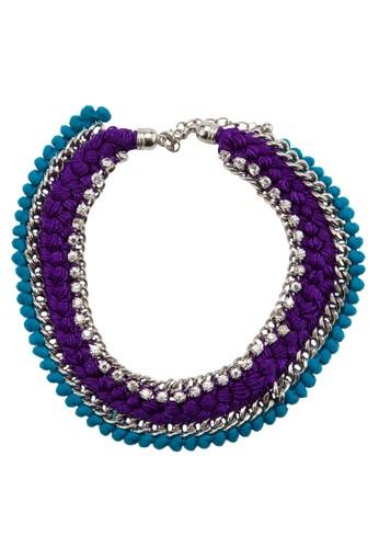 esprit hk水晶編織項鍊, 飾品配件, 項鍊