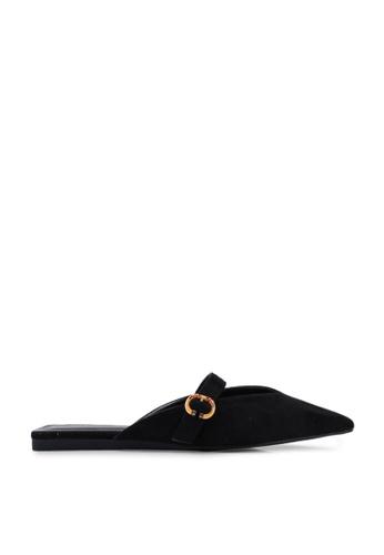 nose 黑色 素色扣環穆勒鞋 61DEASHA5E26F7GS_1