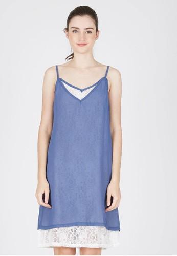 LOVADOVA INDONESIA blue Stone Camisole Lace Dress 2D7ECAA174083EGS_1