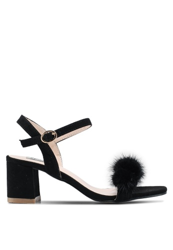 Mimosa black Faux Fur Heels 67974SH0D9126FGS_1