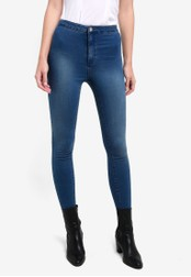 Miss Selfridge blue Denim Steffi Stirrup Jeans MI665AA0RSU9MY_1
