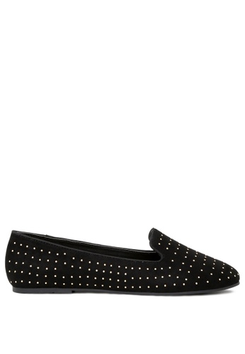 London Rag black Lisa Studded Ballerinas DEC7FSHFD118DEGS_1