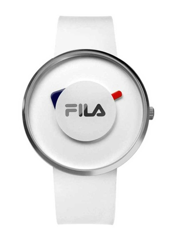FILA Watches white Fila Silver and White Rubber Watch A881BACDF1C7B8GS_1