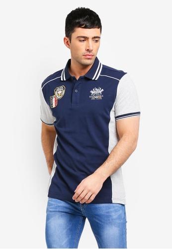 Fidelio 海軍藍色 短袖刺繡POLO衫 73A97AA8AC3C6CGS_1