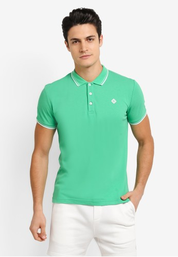 JAXON green and multi Tipping Logo Polo Shirt 2F892AA66DD937GS_1