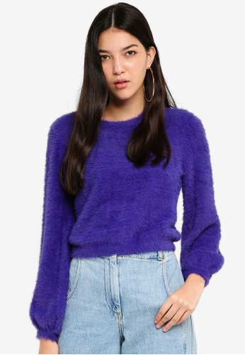 ONLY blue Lover Crop Pullover 7BD99AA77B18BAGS_1