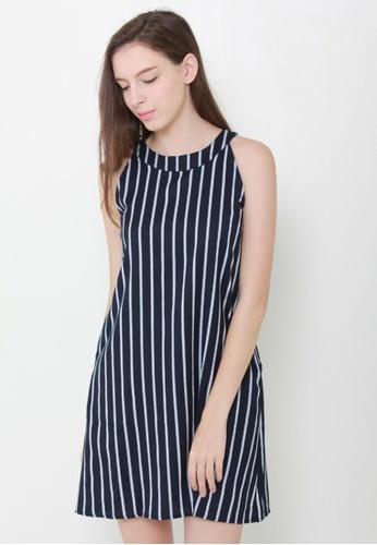 Leline Style blue Jami Stripes Swing Dress LE802AA39GCASG_1