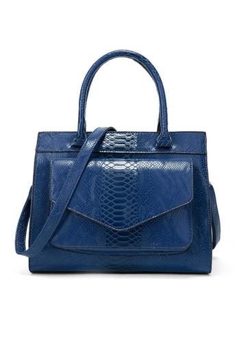Twenty Eight Shoes blue VANSA  Simple Snake Print Hand Bag VBW-Hb017 8BCC4AC9F0DEAAGS_1