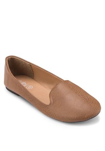 Sadie 暗紋樂福鞋, 女zalora時尚購物網的koumi koumi鞋, 鞋