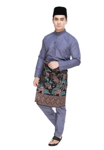 Amar Amran black and grey Baju Melayu Moden 1B252AADD3013EGS_1