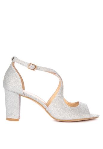 Matthews silver Berlin Heeled Sandals 05673SH9B1C54EGS_1