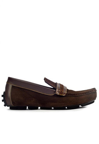 MIG brown MIG Footwear Alpha Moccasin Brown MI684SH93COWID_1
