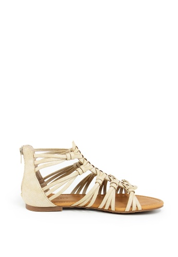 London Rag beige Beige MultiKnots Sandals FDBB8SHBCBB584GS_1