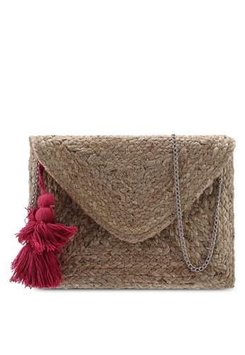 666a67489830 Tassel Straw Clutch Bag