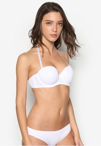 素色zalora 折扣碼桃心領胸罩, 服飾, 內著
