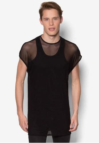 esprit 工作AAA 透視網眼T 恤, 服飾, 服飾
