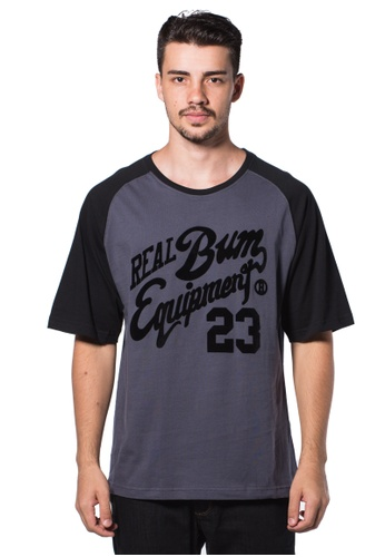 Bum Equipment grey B.U.M Equipment Men Round Neck Tee (DK. GREY) BU054AA0RHDNMY_1