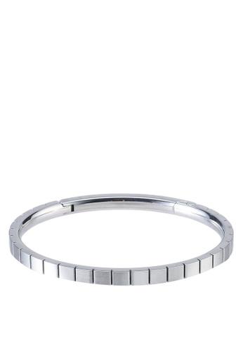 agnès b. silver Stainless Steel Bangle C130EAC98DA9E5GS_1