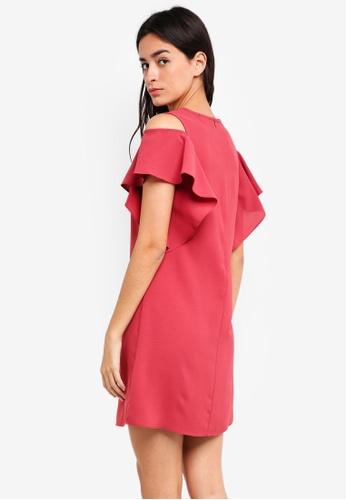 8264a307a5b Shop ZALORA Cold Shoulder Ruffles Dress Online on ZALORA Philippines