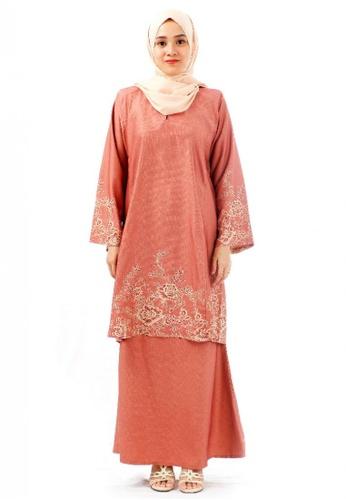 KAMDAR brown Fadia Annaila Flare Kurung Riau-Siena Brown 51141AA4376E18GS_1