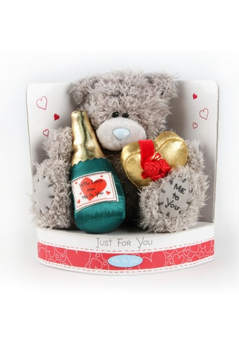 Her Jewellery Me to You Plush Toys - 6″ Tatty Teddy Holding Champagne & Chocolates 4EF90TH54A8715GS_1