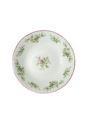 """Claytan Moss Rose With Banding - 8"""" Siam Rice Bowl 592D5HL9F51C8CGS_1"""