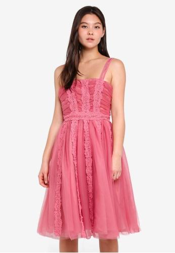 True Decadence pink Sleeveless Dress With Tulle Skirt F439AAA793B628GS_1