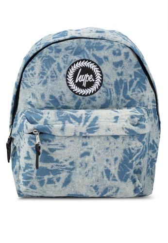 Just Hype blue Acid Wash Denim Backpack 97939AC28BE00DGS_1