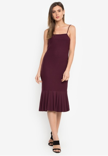 Susto The Label purple Robi Fluted Dress FF099AA23CEB88GS_1