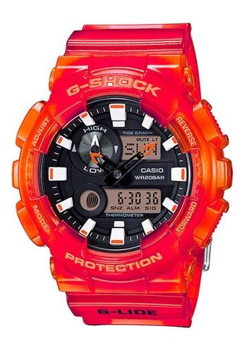 CASIO orange Casio G-Shock G-Lide Black and Orange Resin Watch 370FDAC6252A68GS_1