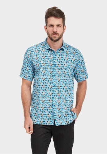NEXT GEN blue NEXT GEN Short Sleeve Print Shirt 0055 21BECAA1C6AB7CGS_1