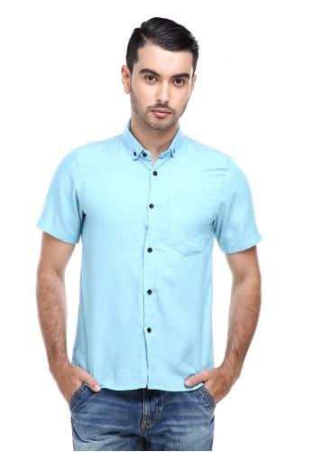 Hamlin n/a Hamlin Dwan Casual Shirt Kemeja Polos Pria Lengan Pendek Kasual Formal Material Cotton ORIGINAL - Turqish CDB0EAA79B4798GS_1