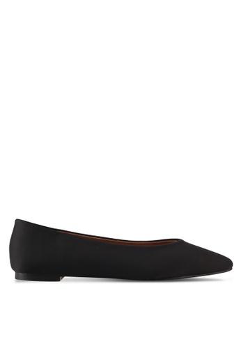 ZALORA black Satin Ballet Flats 93598SH10749C4GS_1