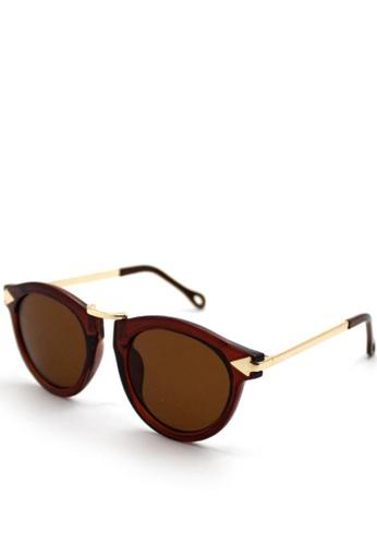 Peculiar and Odd brown Peculiar Premium Round 8001 Semi- Mirrored Sunglasses 3EBA3GL1E0CDCEGS_1