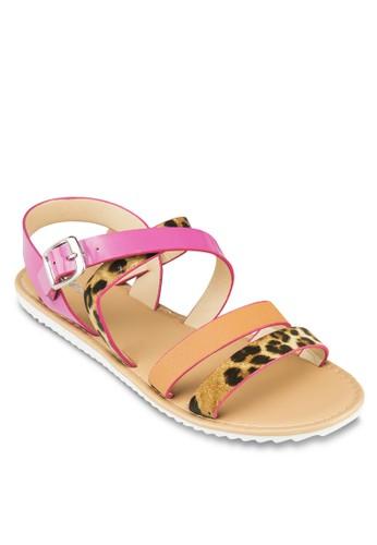 Wreen 拼zalora鞋子評價接繞環涼鞋, 女鞋, 涼鞋