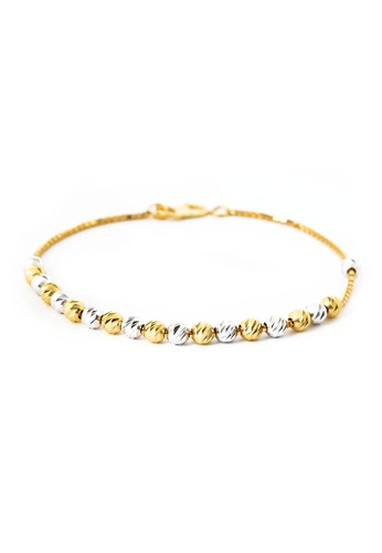 TOMEI gold [TOMEI Online Exclusive] Vivacity in Verve Duality Bracelet Yellow Gold 916 (BB1112-A-2C )-18CM 17E1DAC84CC311GS_1