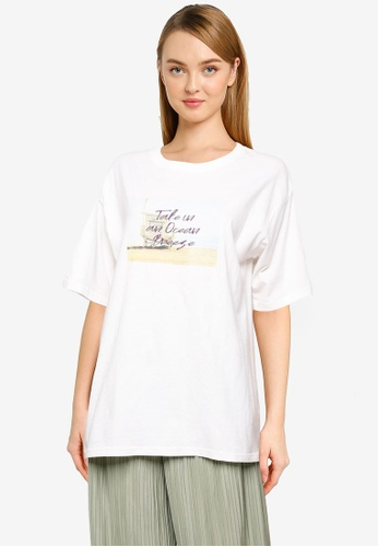 LOWRYS FARM white Oversized T-Shirt 6A9F3AADA1CBA5GS_1