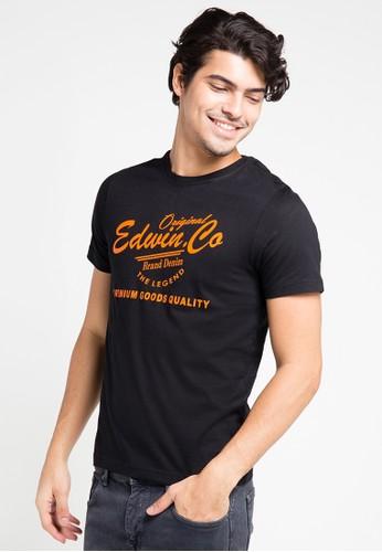 EDWIN black Edwin Original T-Shirt Ets-003-103 Black - ED179AA0URIOID_1
