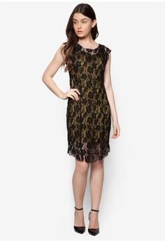 Lace Me All Over Midi Dress