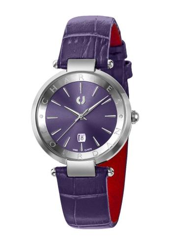 Charles Jourdan purple CHARLES JOURDAN LADIES ELEGANCE QUARTZ 57537ACAC5E1B2GS_1