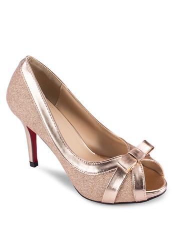 亮飾露趾高跟鞋, 女鞋, 魚口esprit retail鞋