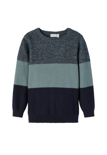 NAME IT blue Vohan Long Sleeves Knit Sweater 82069KAB3C5397GS_1