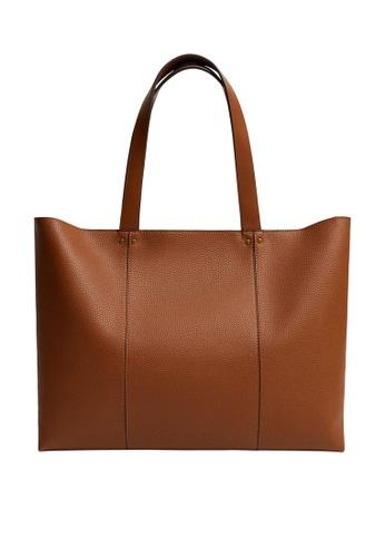 Mango brown Seam Shopper Bag 65077ACB4E5B90GS_1