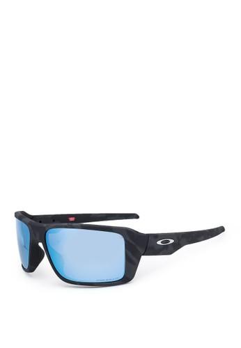 Oakley black Double Edge Matte Black Sunglasses 842F6GL13B2094GS_1